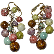 Bohemian Cha Cha Bead Dangle Clip Earrings