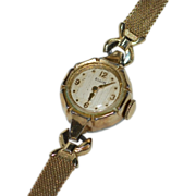 Deco Era Elgin 10K Rolled Yellow Gold Watch ~ Not Working