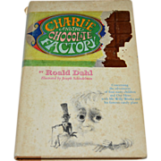 1964 Charlie and the Chocolate Factory First Edition Hardcover Book with Dust Jacket