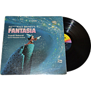 1970 Walt Disney Mickey Mouse FANTASIA LP Record - Red Tag Sale Item