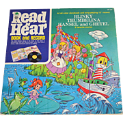 1972 Read N Hear Thumbelina, Hansel & Gretel, Blinky the Boat LP Record w/ Storybook