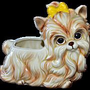 1950s Napco Yorkshire Terrier 'Yorkie Dog' Ceramic Planter