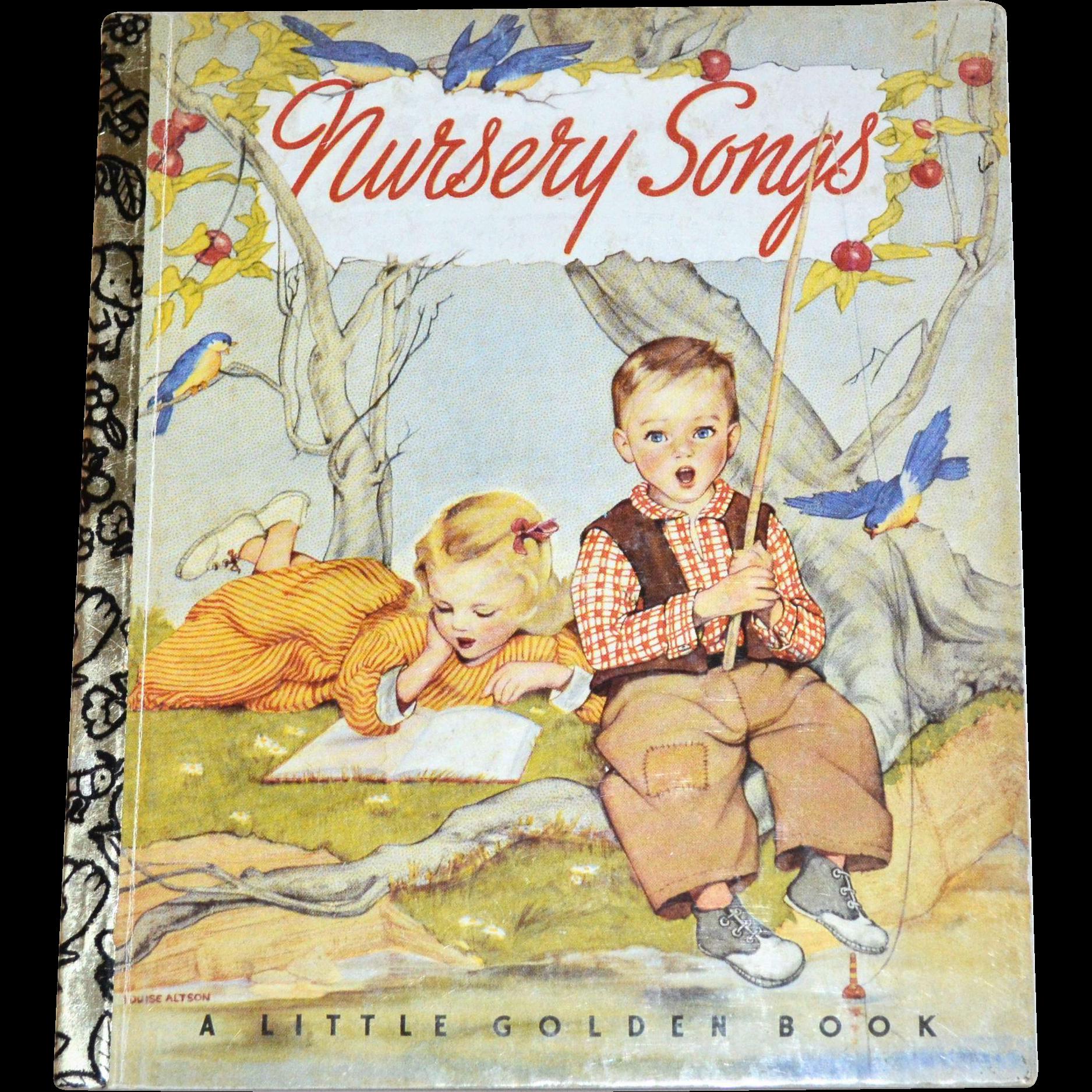 1992 Nursery Songs 50th Anniversary Little Golden Book