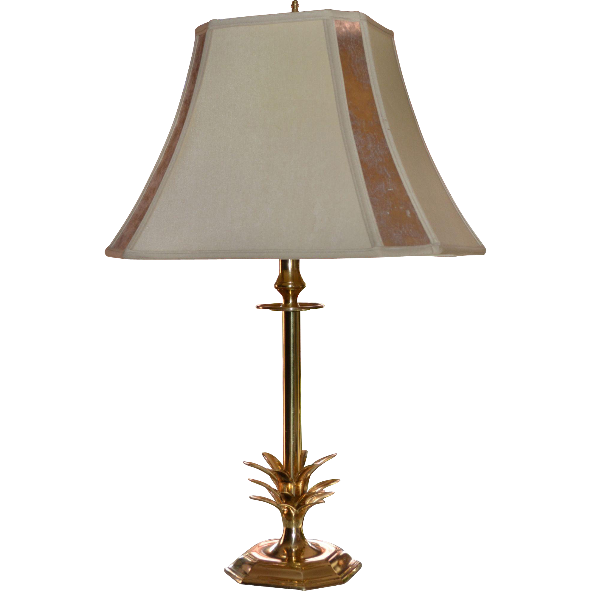 stylized brass pineapple table lamp w mica lamp shade. Black Bedroom Furniture Sets. Home Design Ideas