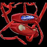 Sachet Brand Red Satin Ballet Pointe Dance Shoes Miniature Salesman Sample