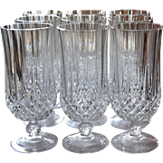Cristal d' Arques Longchamp Set of 9 Lead Crystal Iced Tea Glasses