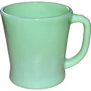1940s Fire King Jadeite Green Glass D Handle Mug