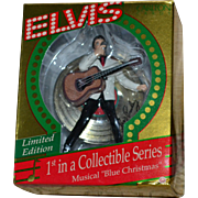 NEW Elvis Presley 'Blue Christmas' Limited Edition Singing/Musical Christmas Ornament by Carlton Cards