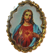Jesus Christ Sacred Heart Small Religious Tie Tack Pin