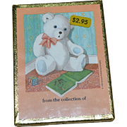 NOS Antioch Bookplates Set of 50 Teddy Bear Gummed Labels SEALED in Box