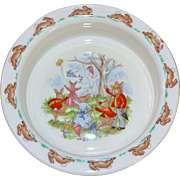 "Royal Doulton Bunnykins ""Flying a Kite"" Bone China Cereal or Soup Bowl"