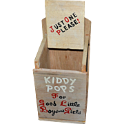 Rustic Advertising KIDDY POPS For Good Little Boys and Girls Wood Lollipop Holder