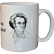 Signed Albert Elovitz Collectible Franz Schubert Music Inspired Coffee Mug
