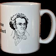 Signed Albert Elovitz Collectible Franz Schubert Music Inspired Coffee Mug