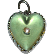 Wells Sterling 'Amulet of Faith' Mustard Seed Matthew 17:20 Puffy Heart Charm