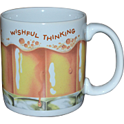 American Greetings WISHFUL THINKING Frothy Beer Ceramic Mug
