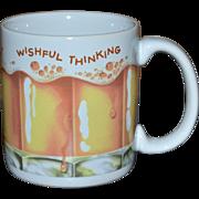 American Greetings WISHFUL THINKING Frothy Beer Ceramic Mug