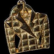 Cool Ladies Blazer on a Hanger Goldtone Tie Tack Pin