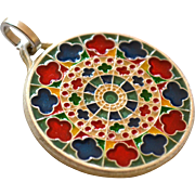 Enamel Rose Window of Notre Dame Cathedral Paris Pendant