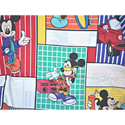 DISNEY Cool Mickey Mouse Double Size Flat Sheet