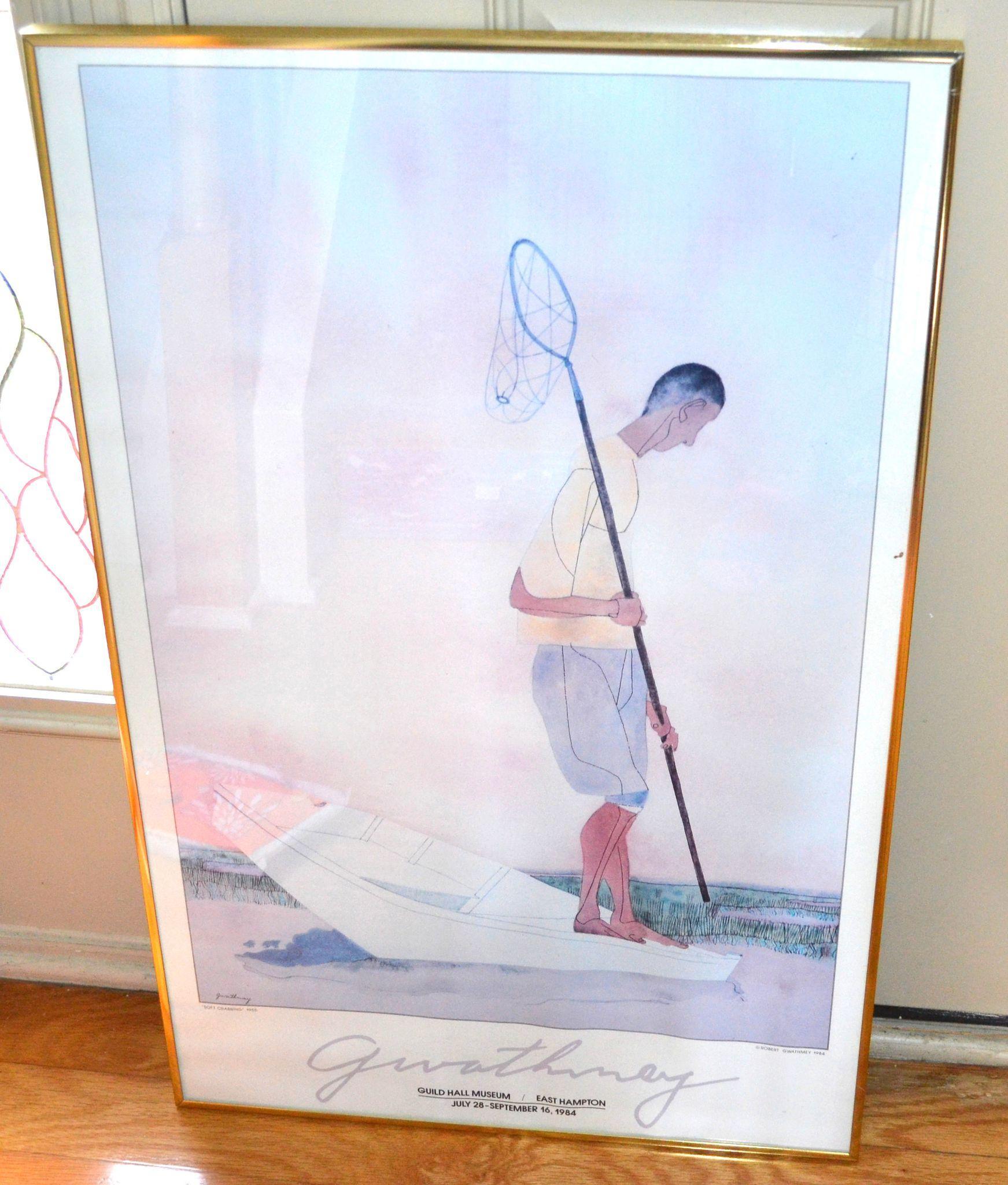 "109 Best Images About Denver Colorado Art Kitsch On: Robert Gwathmey 30"" SOFT CRABBING Guild Hall Museum Framed"