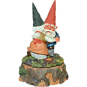 Enesco Gnome Klaus Wickl 'Anniversary Waltz' Rotating Music Box
