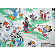 Pacific DISNEY Sports Mickey Mouse Twin Flat Sheet