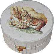 Vintage Beatrix Potter Petter Rabbit Decorative Round Cardboard Box