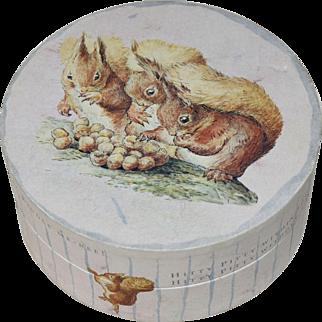 Vintage Beatrix Potter Petter Rabbit Decorative Round Cardboard Box