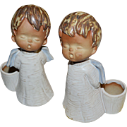 Set of 2 Parma by AAI Pottery Christmas Angel Candle Holders