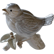 Otagiri Porcelain Sparrow Bird on Branch Figurine Original Label