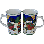 Mikasa Snow Buddies Set of 2 Cappuccino or Cocoa Mugs