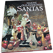 Making Old-Fashioned Santas by Candie Frankel Hardcover Book w/ DJ