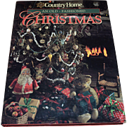 Country Home 'An Old-Fashioned Christmas' Hardcover Book w/ DJ