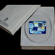 "David Andersen Sterling Silver ""Four Seasons"" SPRING Blue Enamel Brooch Pin w/ Box"