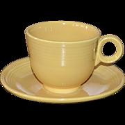 FIESTA Fiesta Ware Yellow Cup & Saucer Set