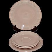 FIESTA Fiesta Ware 4-Pc Apricot Peach Salad Plate & Saucer Set