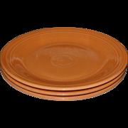 Fiesta Ware Set of 3 Tangerine Orange Dinner Plates