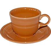 Fiesta Ware Tangerine Orange Cup & Saucer Set