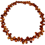 Cognac Honey Baltic Amber Bead Necklace