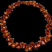 Cognac Honey Baltic Amber Bead Necklace