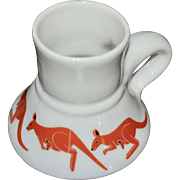 Bearly Surviving Orange Kangaroo White Ceramic Spill Proof Mug