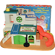 1976 Fisher Price Sesame Street Clubhouse #937 with Original Box!