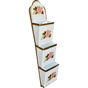 Ivanhoe Shabby Chic Pink Rose Metal Letter Holder