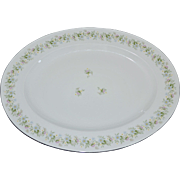 """Johann Haviland Bavaria 14"""" FOREVER SPRING Daisy White Porcelain Platter"""