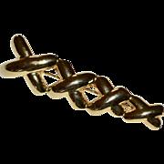 "Large 3"" Love XXX Kiss Hug Goldtone Pin/Brooch"