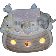 1989 Enesco Noah's Ark Porcelain Night Light
