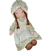 "1970s Knickerbocker 27"" Holly Hobbie ""Heather"" Rag Doll"