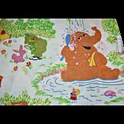 "Marlborough Sesame Street ""Outdoor Camping"" Twin Sheet ~ Great Graphics!"