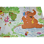 "Marlborough Sesame Street ""Outdoor Camping"" Twin Sheet ~ Great Graphics!"